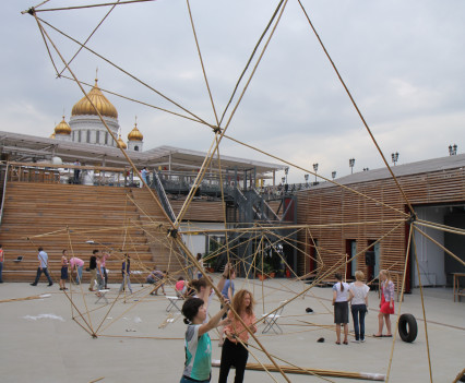 Two week workshop in Gorky Park with students from the Strelka Institute, Moscow, Russia.