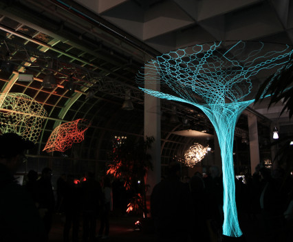 Sonumbra and an Archilace structure was suspended within the Palmengarten Haus as part of the Luminale lighting exhibition.