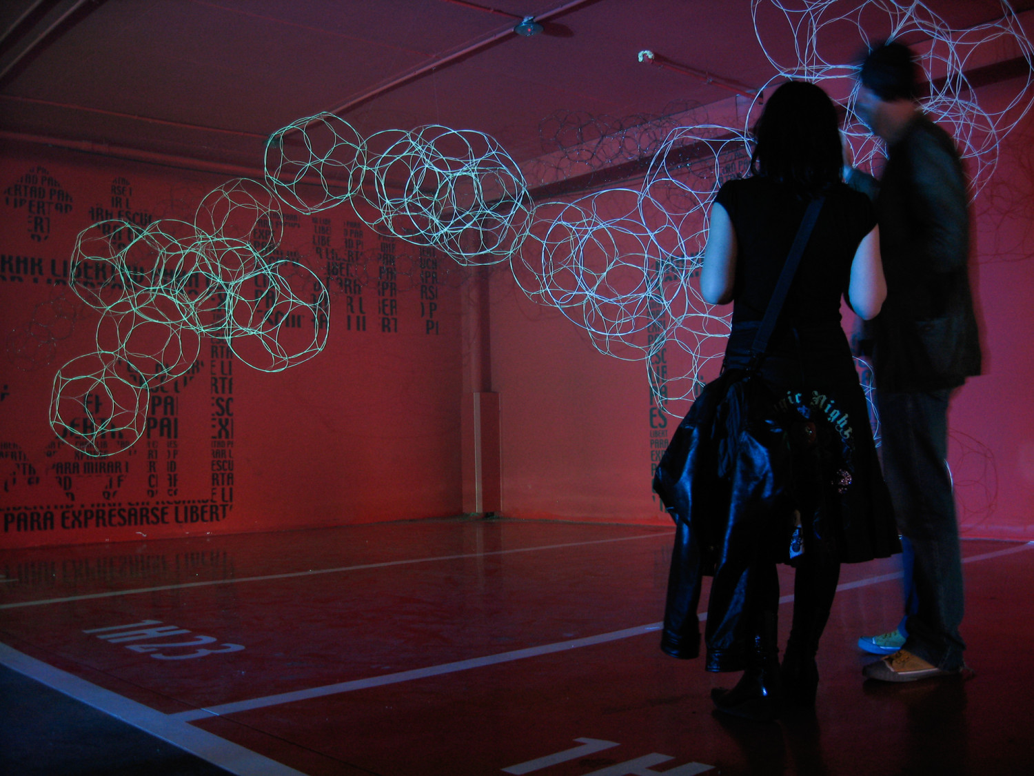 The Silken Hotel Puerta de America of Madrid was transformed into the world of Loop.pH with molecular structures and immersive light displays.