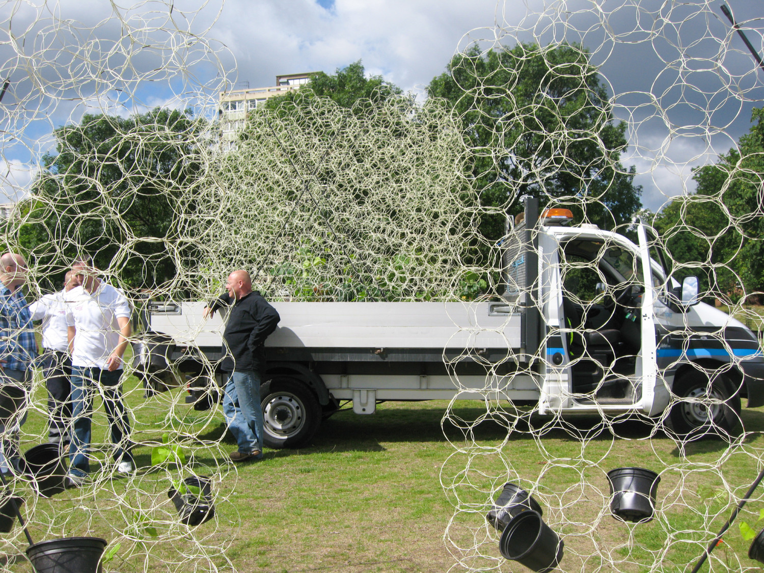 A living green pavilion with biological membranes designed for the Shoreditch Festival 2009.